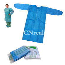 10 pcs/lot Disposable Surgical Isolating Gown Fluid Resistant with Neck Ties and Elastic Wrist