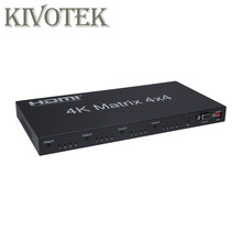 цена на HDMI Matrix Switch FullHD 4K 2K 3D 1080P 4X4 4x2 Switcher Splitter Converter Adapter,IR Control+AC3 Audio For HDTV Free Shipping