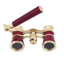Théâtre dopéra course cheval, lunettes 3x25, binoculaire télescope avec poignée/Kit daccessoires pour femmes, mode élégante télescope, bonne vente