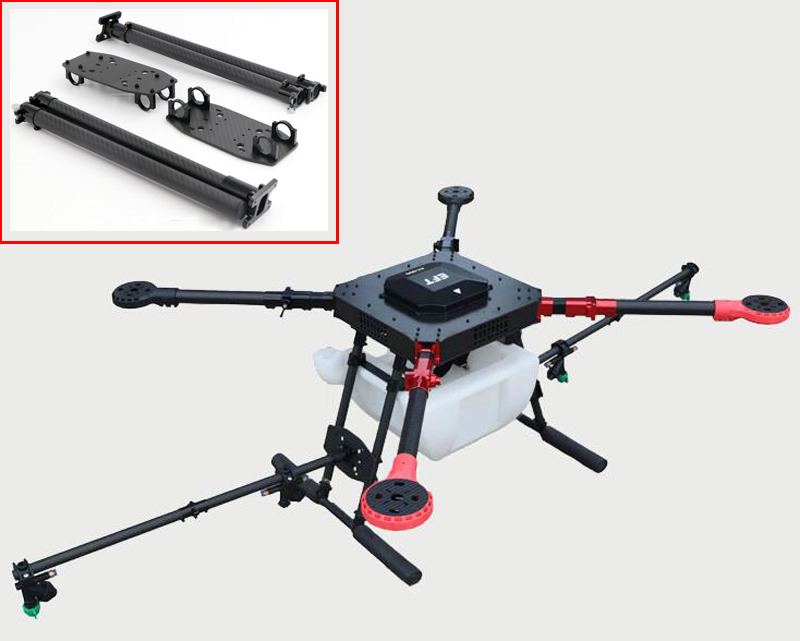 Agricultural plant protection machine drone folding rod aluminum alloy spray bar electric sprayer spray boom nozzle parts access 2pcs plant protection agricultural machine repair parts 30mm diameter of the carbon tube aluminum motor housing motor mount
