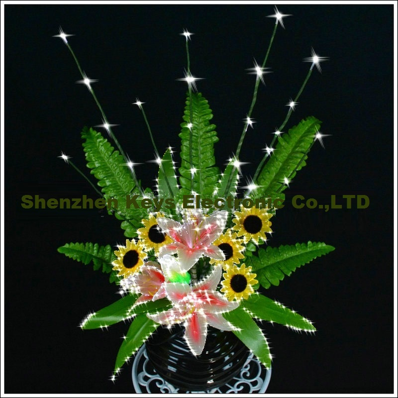 ФОТО 2016 Newest LED Colorful transformation artificial lily Wedding decoration optical fiber flower Christmas New Year party