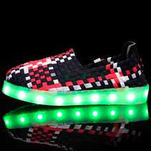 New Sweet LED Colorful Light Shoes Casual Light Shoes USB Rechargeable Light Up Shoes