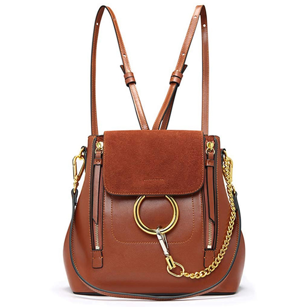 AUAU Women Leather Satchel Cross Body Backpack