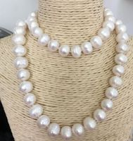 14k/20 godl classic 12 13mm south sea baroque white pearl necklace 30inch