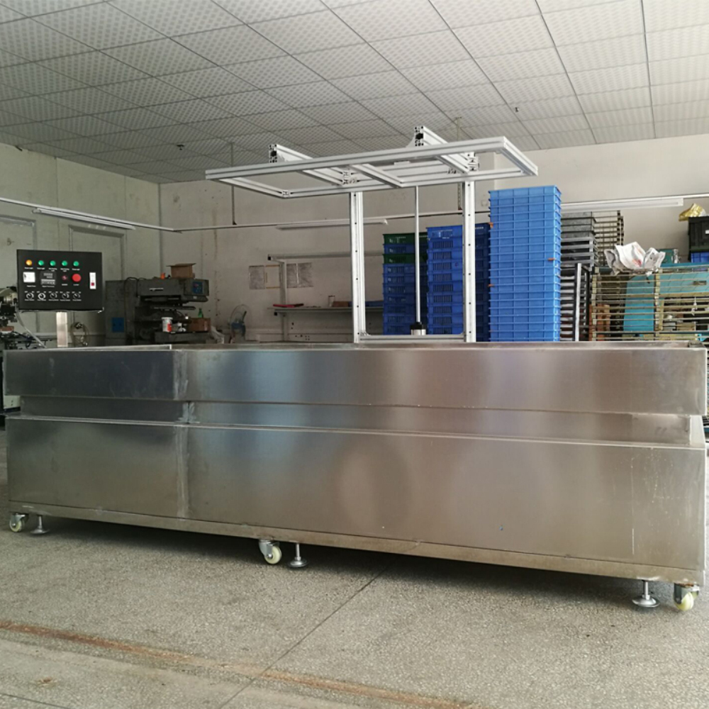 TK004 length 3mHydrographic water transfer dipping tank with automatic mechanical arm.Robot arm