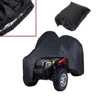 Quad Bike ATV Cover Black Waterproof Four Wheeler Storage Cover Size L/XXL/XXXL
