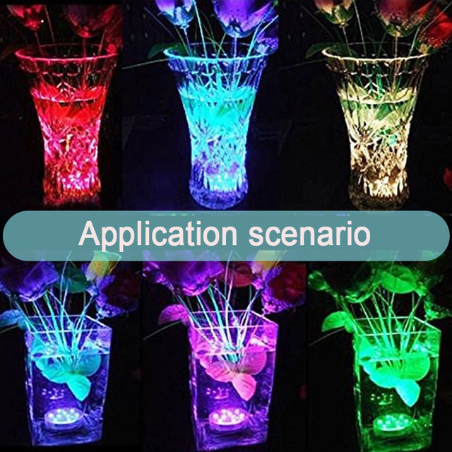 Submersible LED Lights Waterproof led Night Lamp Remote Controller Battery Powered For Weeding Tea Light Vase Party Decor Light