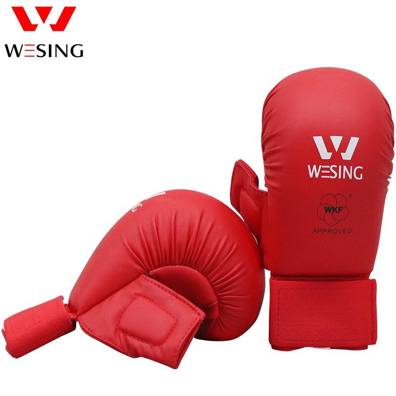 Wesing karate guanti karate guanti per la concorrenza blu e rosso approvato da WKF