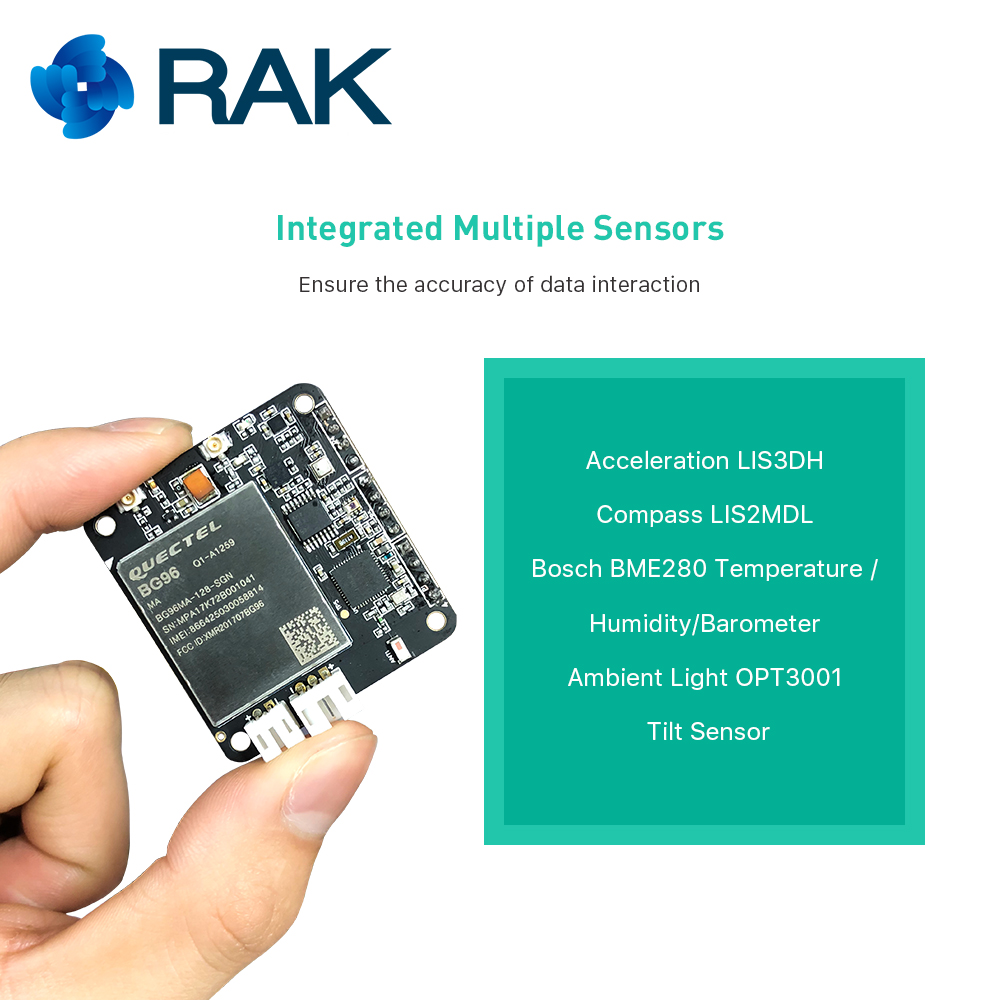 Quectel BG96 NB-IoT iTracker Pro Module Remote GPS Positioning Sensor Node  Module Bluetooth 5 0 GPRS Gateway Module RAK8212 Q077