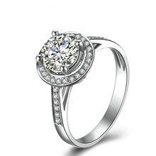 0.20+0.10ct Natural Diamond Ring 18K White Gold Handmade Wedding Band Engagement Ring for Women Diamond Jewelry