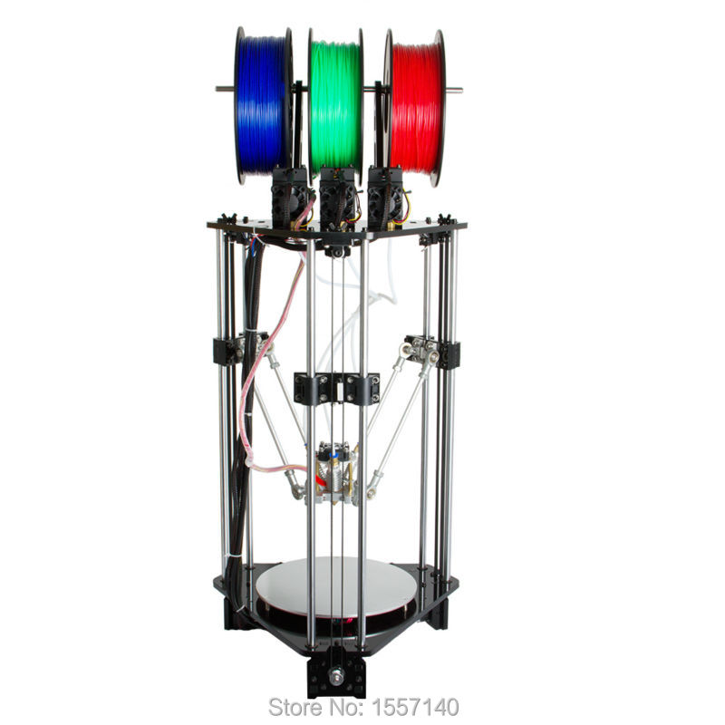 купить Latest Delta Rostock 3D Printer DIT Kit 3-in-1-out Mix Color 3D Printing Hotend LCD 2004 недорого