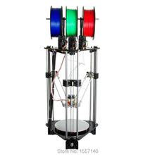 Latest Delta Rostock 3D Printer DIT Kit 3-in-1-out Mix Color 3D Printing Hotend LCD 2004