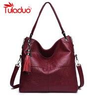 Women Handbags Famous Brands Shoulder Bags Luxury Designer Soft Leather Tassel Casual Tote Bag Zipper Ladies