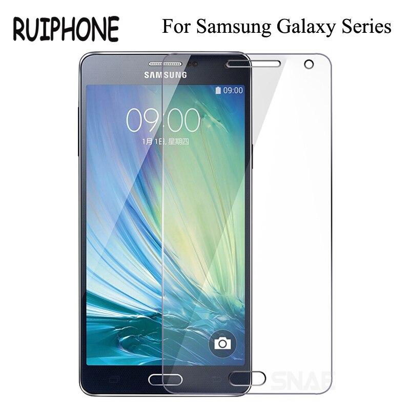 מזג זכוכית עבור Samsung Galaxy J1 J3 J5 J7 2015 2016 זכוכית לסמסונג גלקסי A3 A5 A7 2015 2016 מסך מגן כיסוי זכוכית