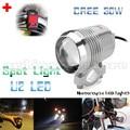 Super Bright 30W U2 LED Motorcycle Spotlight Headlight Driving Fog Head Light Spot Night Safety Lamp + Switch