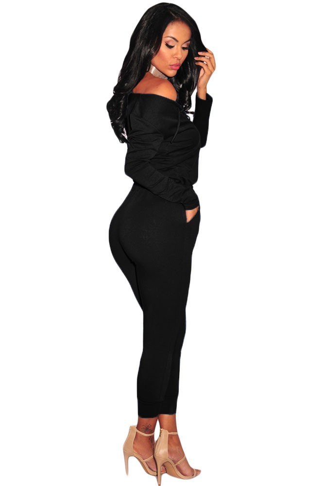Black-Grommet-Lace-Up-Long-Sleeve-Jumpsuit-LC64223-2-4