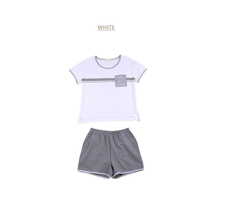 Summer Plus Size Pyjamas Female Casual Pajama Sets Women O-Neck Collar Short Sleeve T Shirt & Shorts Ladies Sleepwear Suit