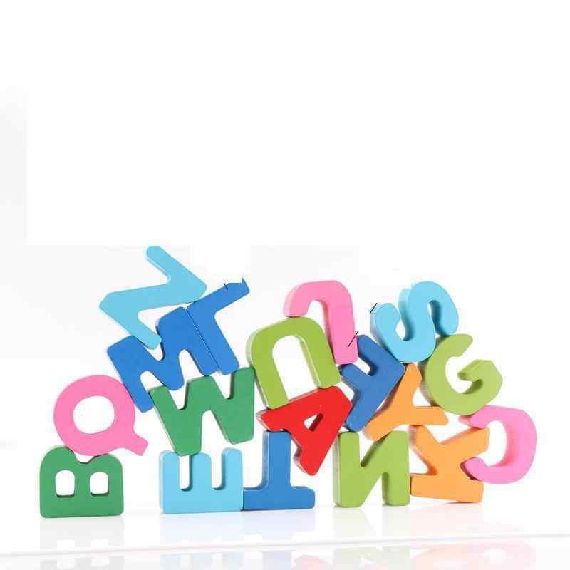 Английский алфавит трехмерная детская головоломка деревянная доска Дети 2-4 года игрушка для раннего развития строительные блоки
