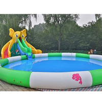 PVC large inflatable water slides inflatable water park water games with pool