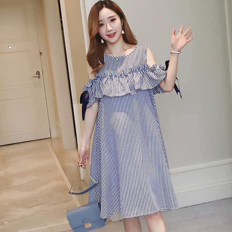 Summer Dress For Pregnant Women Casual Stripped Pregnancy Dresses Maternity Nursing Striped Dress Pregnancy Clothes H120 женское платье summer dress 2015cute o women dress