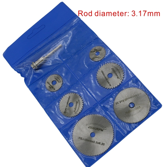 HSS Rotary Tool Accessories Woodworking Circular Saw Blades Kit Set Fits Dremel 1/8″ Mandrel Mini Cutting Disc for Wood Carving