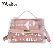 Mealivos Fashion jelly bag Brand Mini Small Shoulder Bag Clear Transparent Drawstring Girls Cute Composite Female Handbags