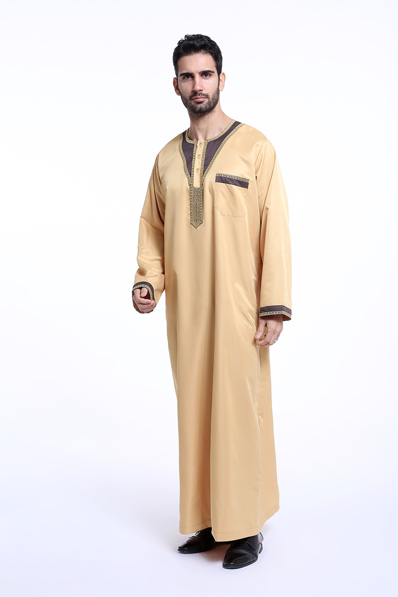 Arab clothing men Cotton thobe male islamic clothing for men muslim men caps in Islamic Clothing from Novelty Special Use