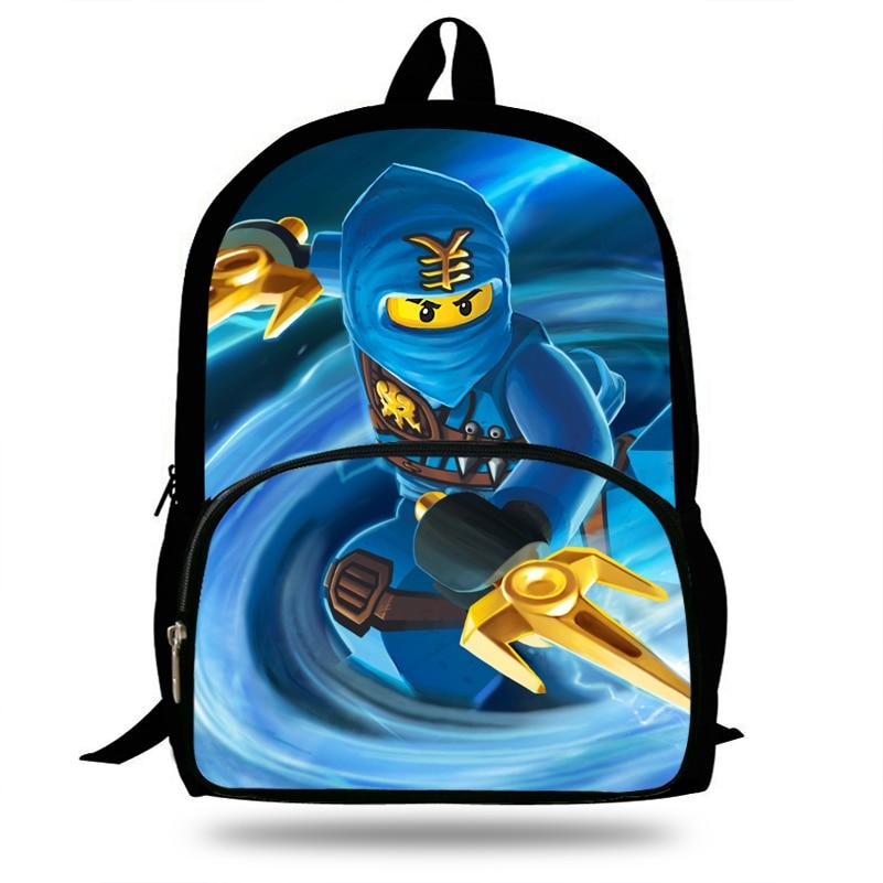 Kids & Baby's Bags 16-inch Fashion Cartoon Schoolbag Girls Ninjago Backpack For Boys Bookbag Children Teenagers Mochila School Bags