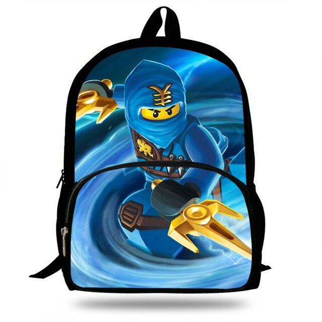 23d072510c 16-Inch Fashion Cartoon Schoolbag Girls Ninjago Backpack For Boys Bookbag  Children Teenagers Mochila