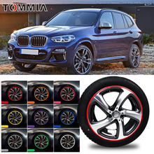 цена на Car Hub Trim Decoration Anti-Collision Strip Wheel Rim Protector Ring Wheel Tire Edge Changer Guard Styling stickers For BMW X3