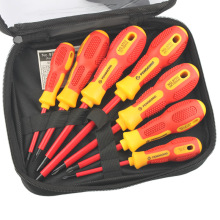 7Pcs Insulated Screwdriver Set 1000V Phillips/Slotted Electrician Set Screwdriver Bits Voltage Magnetic CR-V Han
