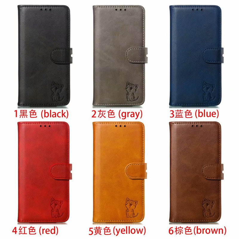 Magnet Flip Leather Case For Samsung Galaxy A40 A50 A60 A70 Hybrid Soft TPU Card Slot Wallet Business Cover For Galaxy M40 M20 in Fitted Cases from Cellphones Telecommunications