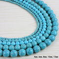 4mm-12mm straight holes turquoise natural stone beads for jewelry accessories Beads & Jewelry Making A100