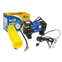 Компрессор автомобильный KRAFT КТ 800029 Power Life EXTRA  (Максимальное давление 10 атм, производительность 50 л.мин,  напряжение питания 12В, клеммы АКБ, сумка)
