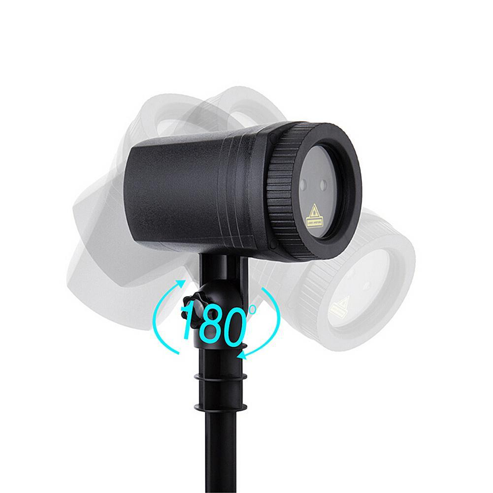 Mini Outdoor IP65 Waterproof Red Green Moving Twinkle Laser Christmas Lights Projector Decorations For Garden Lawn House