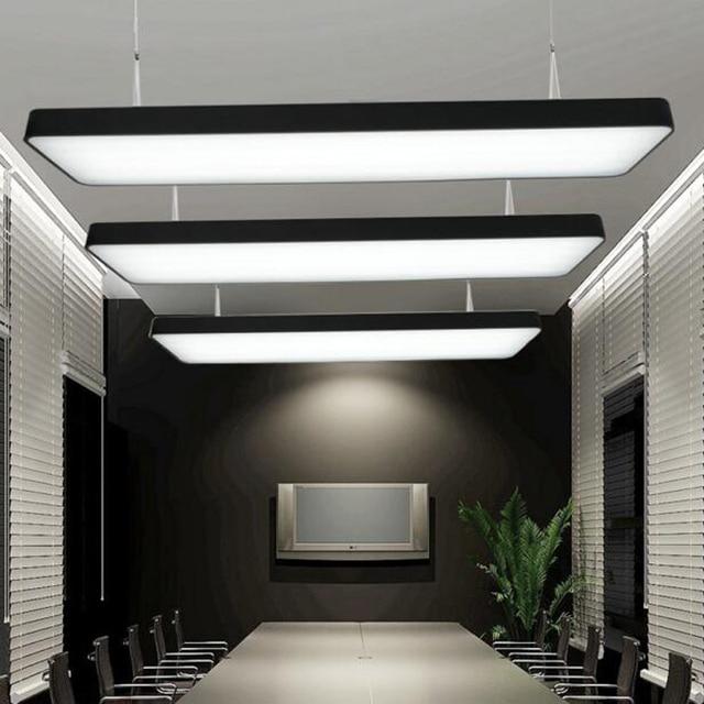 led streifen b ro kronleuchter konferenzraum rechteckigen h ngelampe einfaches mode. Black Bedroom Furniture Sets. Home Design Ideas