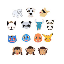 14 style Mini Animal brooches for women Monkey Panda Dog Metal Enamel Pins Kids lapel bag Clothes Jewelry Accessories Gifts(China)