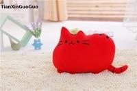 Sobre 40 cm historieta encantadora gato felpa juguete gato rojo muñeca suave cojín, almohada Regalo de Cumpleaños s0349