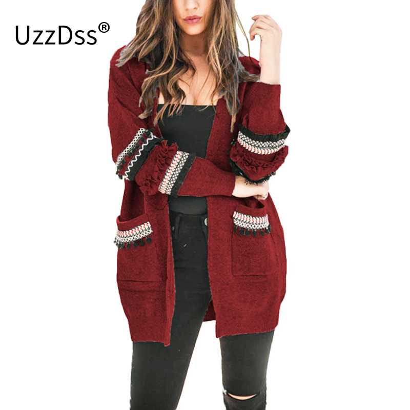 S-3XL 2019 Women Long Sleeve Knitted Cardigan Sweater Casual Autumn Coats  Outwear Fashion Hairball Winter Harajuku Veste Femme 99a6cfc33