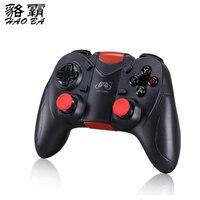 HAOBA 2 pçs/lote Controle Remoto Sem Fio Bluetooth Gamepad Joystick Game Controller para iphone Para PC/IOS/Android/TV (Modelo S6)