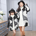 Family Matching Outfits Fashion Cotton Mother Daughter Outfits Autumn Winter Clothes For Ladies And Girls Coats Family Style