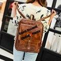 De cueroZaino Canta Bolsa Women Vintage School Bags Soft Leather Backpack Female Mochila Feminina Backpacks For Teenage Girls