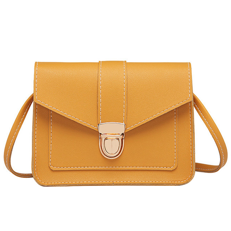 Fashion Small Crossbody Bags for Women 2019 Mini PU Leather Shoulder bag Messenger Bag for Girl Yellow bag Ladies Phone Purse