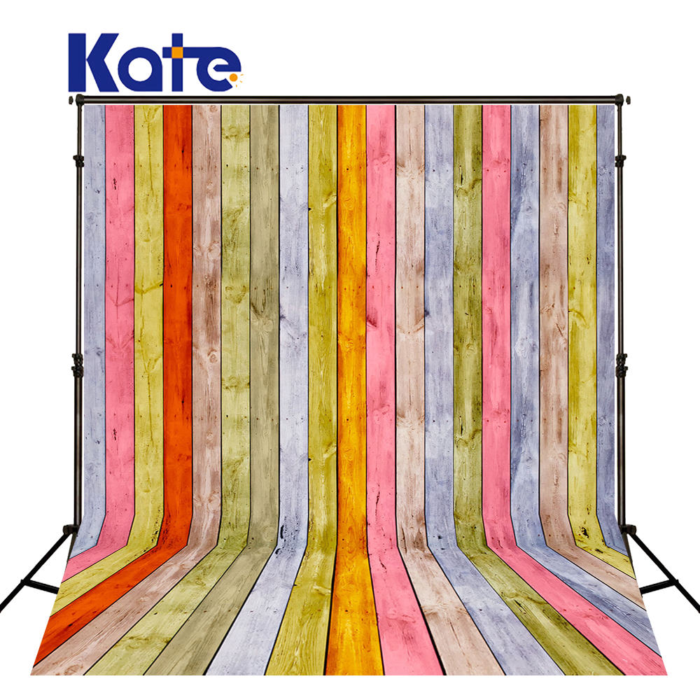 5x7ft Kate Retro Colorful Wood Photography Backdrops Children Photography Background for Studio Poto Wooden Floor Photo   Prop retro background wood floor photo studio props photography backdrops vinyl 5x7ft