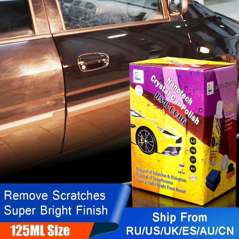 Estrela em ascensão RS-B-CC06 Carro Cera De Polimento para Remover Arranhões Cuidado Automotivo Detalhando Kit Selante de Cristal Cera De Carro Polonês 125 ml