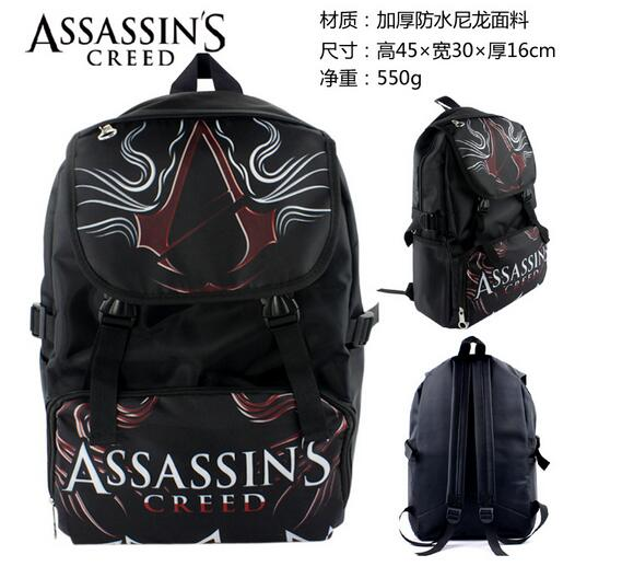 Anime Assassins Creed Backpack Shoulder School Bag Laptop Bag School Bag assassins creed cosplay backpack men school bags official assassins creed syndicate logo school backpacks bag rucksack
