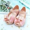 13.5-16 cm mini melissa tres arcos niñas sandalias 2017 melissa jalea sandalias de las muchachas sapato infantil menina niños calzan zapatos de las niñas