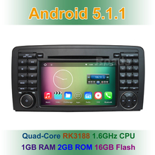 Quad Core 1024*600 Android 5.1.1 Car DVD Player GPS for Mercedes/Benz R Class W251 R280 R300 R320 R350 R500 With BT Wifi Radio