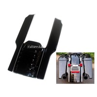 New Motorcycle Bright Black 7 Rear Fender Stretched Extension For 1996 2008 Harley Touring Bike