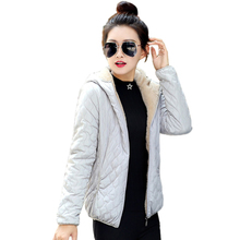 2018 Autumn And Winter Jacket Women Slim Short Snow Wear Wadded Female Cotton-Padded Outerwear Coat